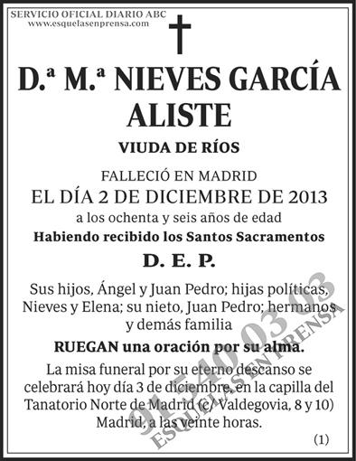 M.ª Nieves García Aliste